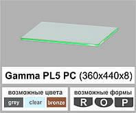 Стеклянная полка радиусная Commus PL5 PC (360х440х8мм), фото 1