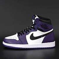 Мужские кроссовки Nike Air Jordan 1 Retro All Star Black Violet / Найк Аир Джордан 1 Ретро Черные Фиолетовые