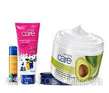 Подарочный  Набор с маслом авокадо 3 в 1 AVON Care Naturals (крем для тела +крем для рук+бальзам для губ)