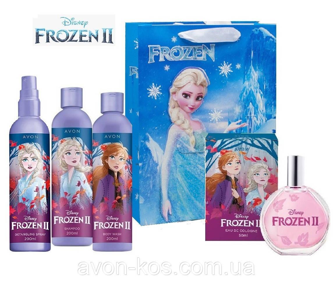 Набір для дівчаток AVON 5 в 1 - Disney Frozen II - Холодне Серце 2 в подарунковому пакеті Frozen