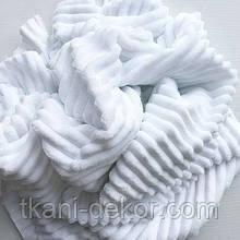 Ткань плюшевая Minky Stripes белый (шарпей)