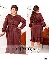 Платье №2108-бордо бордо/Виберіть розмір 50/52