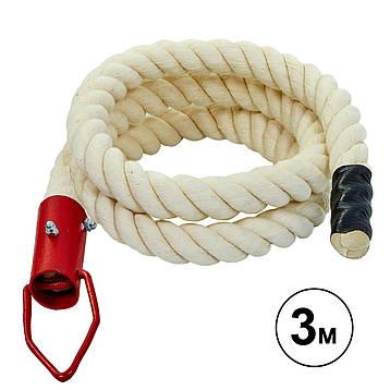 Канат спортивний для лазіння з кріпленням (3 м) SO-5298, фото 2