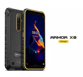 Смартфон Ulefone Armor X8 Orange 4\64gb NFC Helio A25 5080 маг