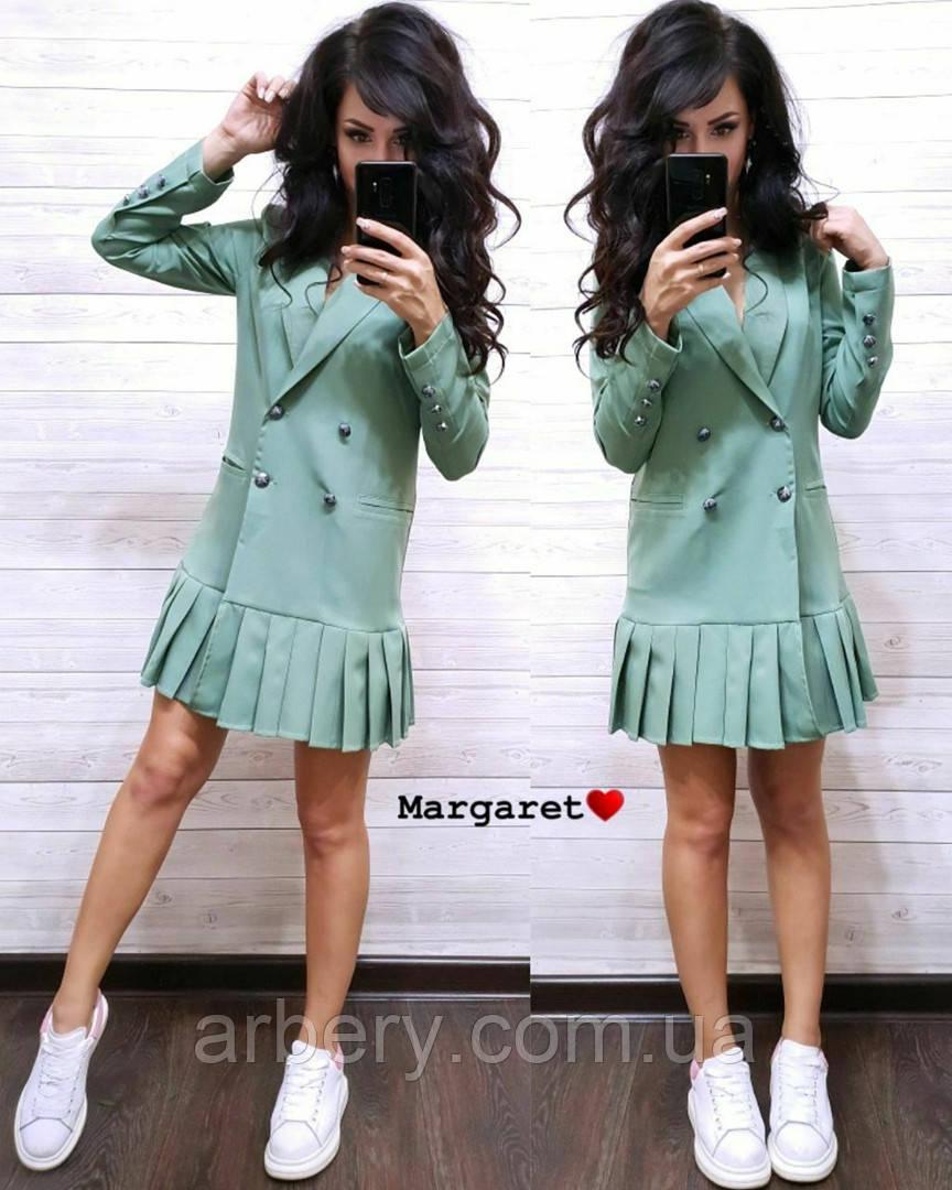 Женское стильное платье-пиджак