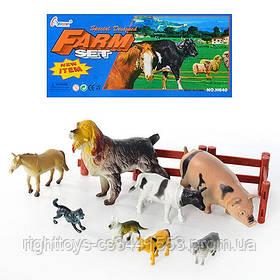 Животные H 640 (96шт) домашние, 8шт в кульке, 26-19,5-6см