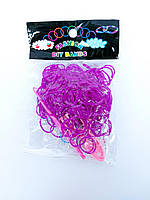 Резинки для плетения браслетов фиолетовые 200шт