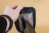 Ботильйони жіночі шкіра наплак чорні з розкльошені каблуком, зимові, фото 10