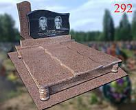 Двойной памятник с жадковского гранита и габбро, фото 1