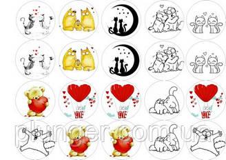 "Вафельна картинка для торта ""Love"", (лист А4, товщина 0,3 мм) 11"