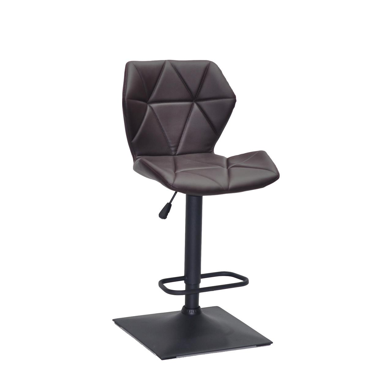 Барный стул Торино коричневая экокожа TORINO BAR 4 BK-BASE черная база