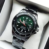 Мужские наручные часы Rolex Submariner (ролекс) черного цвета c зелено-черным циферблатом, дата - код 1855