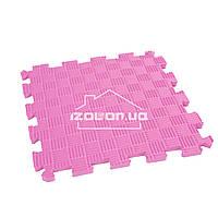 Детский коврик-пазл (мягкий пол татами ласточкин хвост) IZOLON EVA SPORT 30х30х1 см, розовый