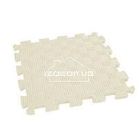 Дитячий килимок-пазл (м'яка підлога татамі ластівчин хвіст) IZOLON EVA SPORT 30х30х1 см, бежевий, фото 1