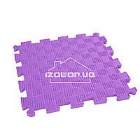 Детский коврик-пазл (мягкий пол татами ласточкин хвост) IZOLON EVA SPORT 30х30х1 см, фиолетовый