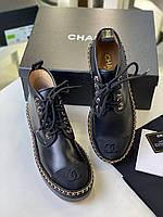 Комфортні жіночі черевики Шанель білі (репліка), фото 1