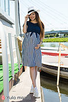 Комбіноване плаття для вагітних та годуючих з трикотажу, розміри від 44 до 48, фото 2