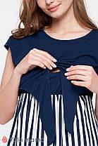 Комбіноване плаття для вагітних та годуючих з трикотажу, розміри від 44 до 48, фото 3