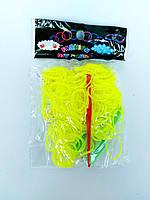 Резинки для плетения браслетов салатовые 200шт