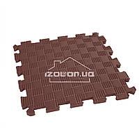 Детский коврик-пазл (мягкий пол татами ласточкин хвост) IZOLON EVA SPORT 30х30х1 см, шоколад