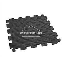 Детский коврик-пазл (мягкий пол татами ласточкин хвост) IZOLON EVA SPORT 30х30х1 см, черный
