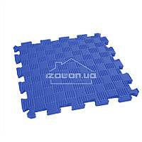 Дитячий килимок-пазл (м'яка підлога татамі ластівчин хвіст) IZOLON EVA SPORT 30х30х1 см, синій, фото 1