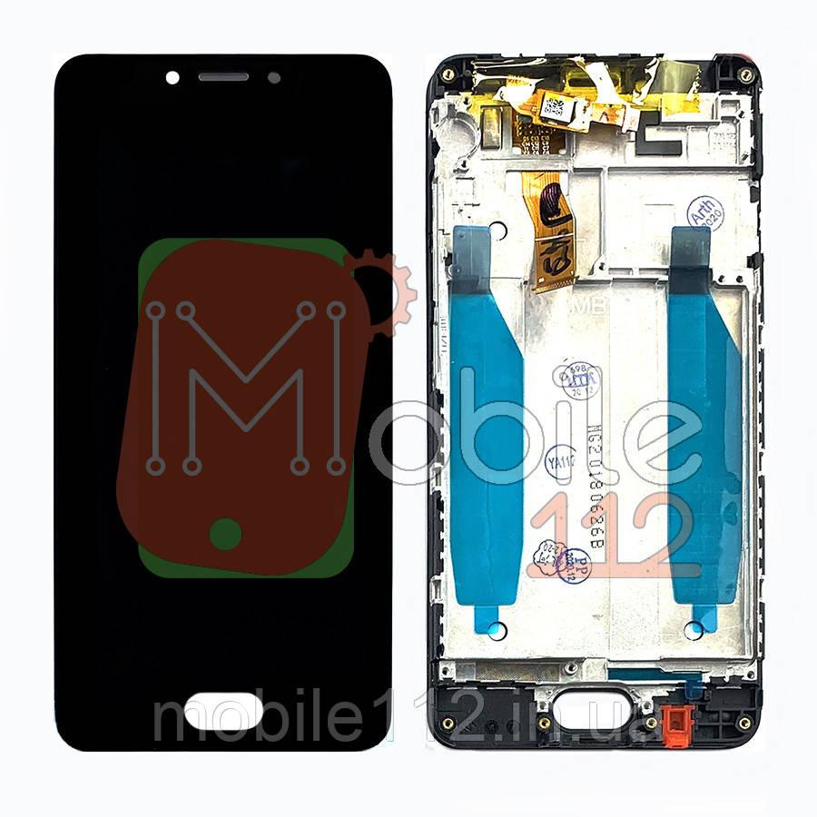 Экран (дисплей) Meizu M5c M710H + тачскрин черный оригинал Китай с передней панелью
