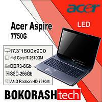 "Ноутбук Acer Aspire 7750G / 17.3 "" / Intel Core i7-2670QM / SSD-258GB / DDR3-8GB / Radeon 7670M 2gb (к.117637), фото 1"