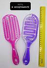 Расчёска для волос продувная La Rosa пластмассовая 9571 Фиолетовая, фото 4