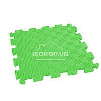 Детский коврик-пазл (мягкий пол татами ласточкин хвост) IZOLON EVA SPORT 30х30х1 см, зелёный
