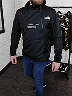 Чоловіча вітровка анорак в стилі The North Face Steep Tech чорна, фото 1