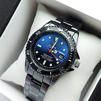 Мужские наручные часы Rolex Submariner (ролекс) черного цвета c сине-черным циферблатом, дата - код 1856