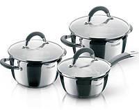 Кухонный набор кастрюль посуды для кухни кухонной посуды Rondell Flamme 2 кастрюли 3.2л и 5.7л и ковш 1.3л