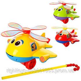 Каталка 0368 (72шт) на палке41см, вертолет,звук,вращ.винт,высов.язык,3цвета,в кульке, 22-21-13см