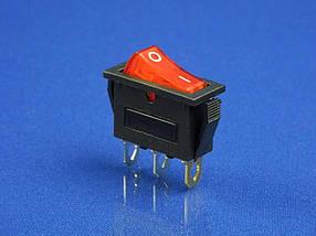 Кнопка двухпозиционная 0/1, 3 контакта, KCD3  (250V, 16A)