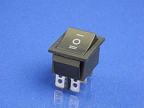 Кнопка для электроприборов, 3 положения, 6 контактов KCD4 (250V, 15A)