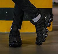 Кроссовки мужские Nike Air VaporMax Plus Triple Black 1 Найк Аир ВапорМакс Черные
