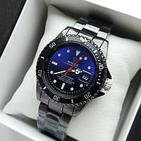 Мужские наручные часы Rolex Submariner (ролекс) черного цвета c фиолетово-черным циферблатом, дата - код 1857