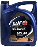 Масло  ELF Evolution Fulltech FE 5W30. (RN0720, ACEA C4, C3) Синтетика 5 Л Франция