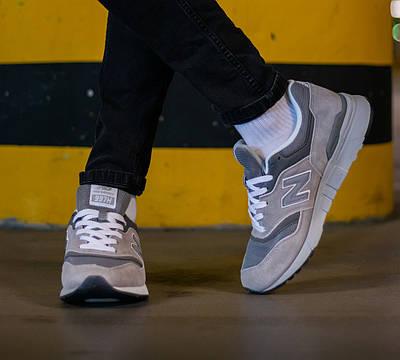 Кроссовки мужские New Balance 997 Made in USA Grey Нью Баланс 997 Серые