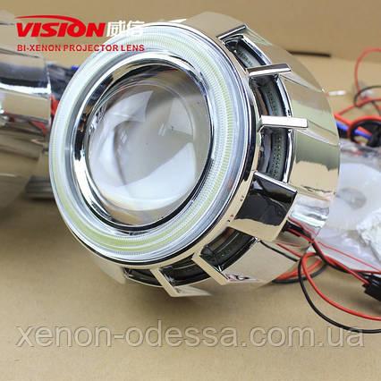 """Маска для ксеноновых линз G5 2.5"""" : Z262 Transformers c Ангельскими Глазками, фото 2"""