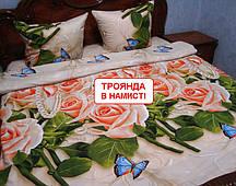 Євро комплект постільної білизни - Троянда в намисті