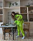 Женский спортивный костюм на флисе со свободным худи с карманами и штанами на манжетах (р. S - XL) 40so1185, фото 3