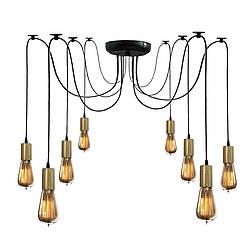 Люстра паук на восемь ламп NL 149-8 BK+BN MSK Electric