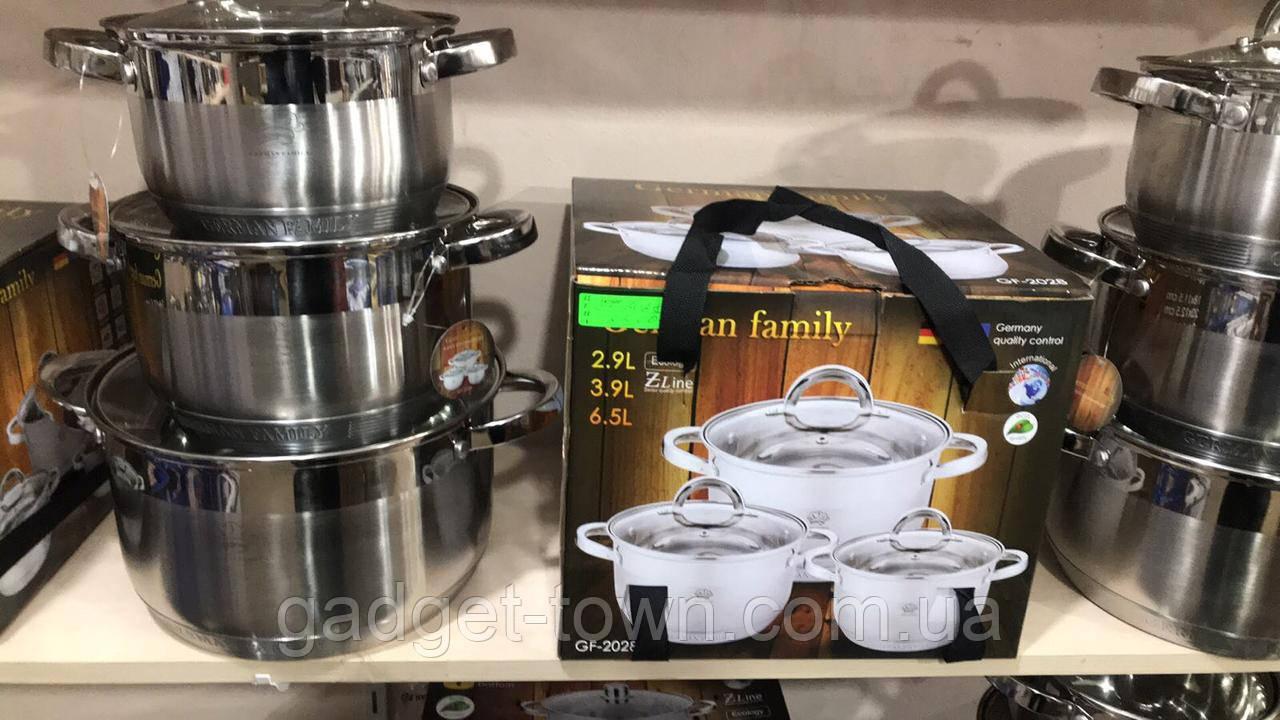 Набор кастрюль для кухни German Family (6 предметов)