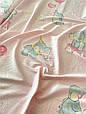 Сатин (хлопковая ткань) слоники с шариками на горошке (ширина 240 см), фото 2
