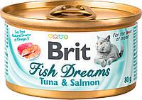 Brit Fish Dreams Tuna & Salmon Влажный корм с тунцом и лососем для кошек 80 г