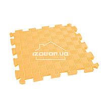 Детский коврик-пазл (мягкий пол татами ласточкин хвост) IZOLON EVA SPORT 30х30х1 см, оранжевый