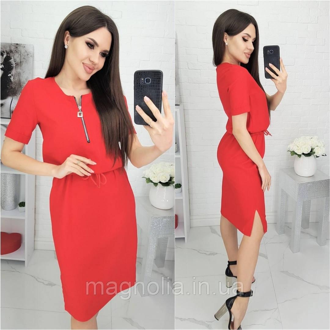 Шикарное платье на лето из льна / лён / лен! ( красное) N181