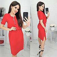 Шикарное платье на лето из льна / лён / лен! ( красное) N181, фото 1